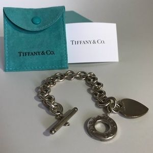 Tiffany heart tag toggle bracelet with box